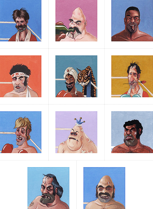 Punch out characters for What is a punch out list